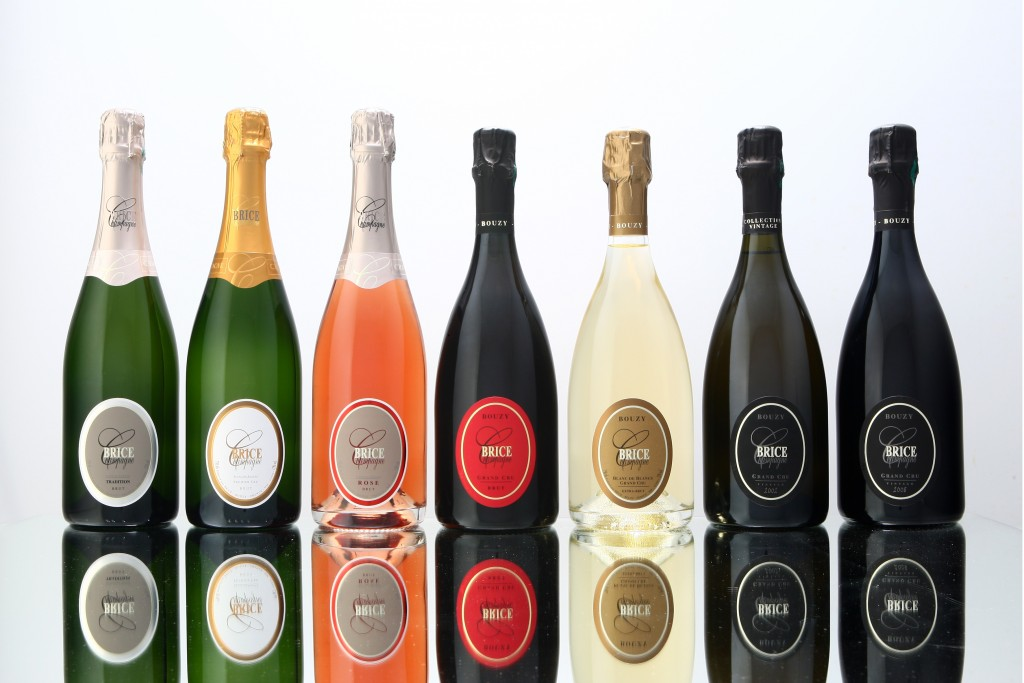 Champagne BRICE gamme 7 bouteilles